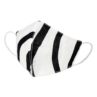 Monochrome Stripe Katoenen Gezichtsmasker