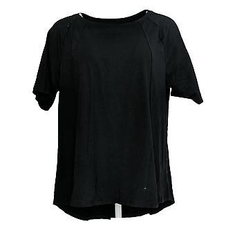 Anybody Women's Regular Top Cozy Knit Swing Black A370575