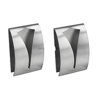 2pcs Stainless Steel, Self-adhesive Towel Holder, Wall-mounted Hangers