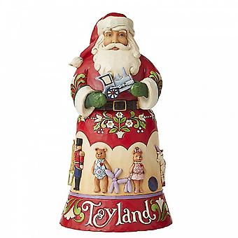 Jim Shore Heartwood Creek Toyland 14e in Christmas Song Series - Santa Claus Beeldje