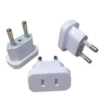 Plug Adapter 2 Round Socket Converter Travel Electrical Power Adapter- Socket
