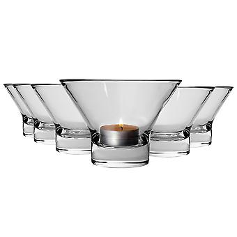 Bormioli Rocco Ypsilon Candle Tealight Decoration Bowls 130mm - Pack of 6