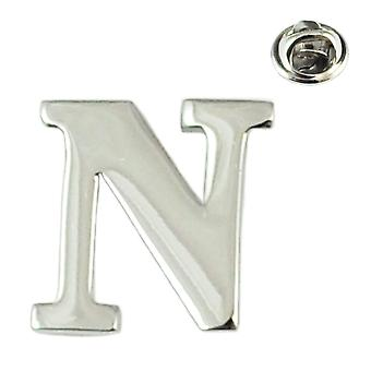 Ties Planet Alfabet Letter N Revers Pin Badge