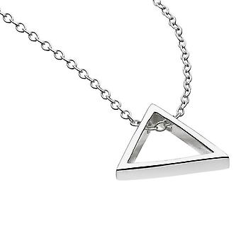 Dew Sterling Silver Open Triangle 18 Necklace 98016HP020
