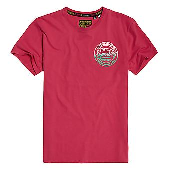 Superdry Ticket Type Oversized Fit Tee - Rasberry