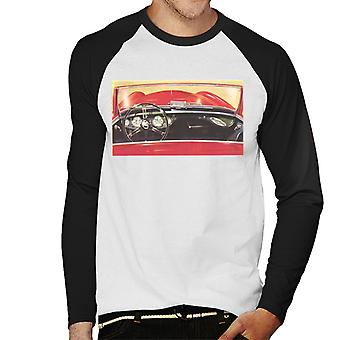 Austin Healey Drivers Seat British Motor Heritage Men's Baseball Long Sleeved T-Shirt