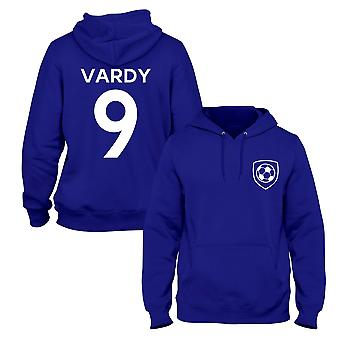 Jamie Vardy 9 Leicester Style Spieler Fußball Hoodie