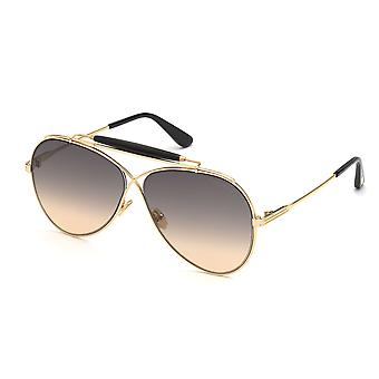 Lunettes de soleil Tom Ford Holden TF818 30B Shiny Deep Gold/Smoke Gradient