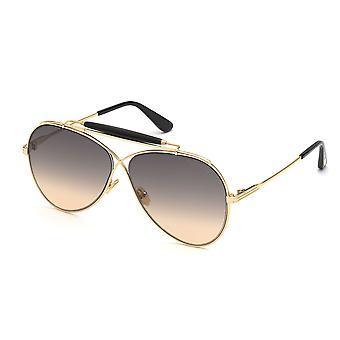 Tom Ford Holden TF818 30B gafas de sol brillantes de oro profundo/degradado de humo