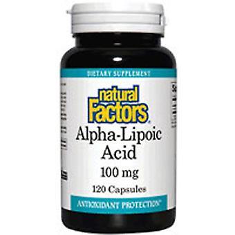גורמים טבעיים אלפא ליפואית חומצה, 100 מ ג, 60 כמוסות