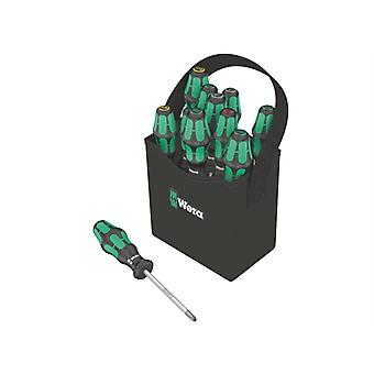 Wera Kraftform Plus 2go 300 Screwdriver Set of 12 SL/PH/PZ/TX WER004313