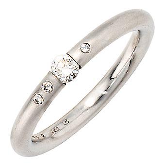 Damen Ring 950 Platin 4 Diamanten Brillanten 0,20ct. Platinring