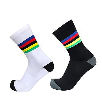 Gökkuşağı Şeritleri Spor Çorap
