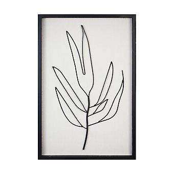 Handgeschilderde bladmuurkunst met matzwarte afwerking