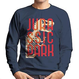Jurassic Park Oversized Red Text Men's Sweatshirt