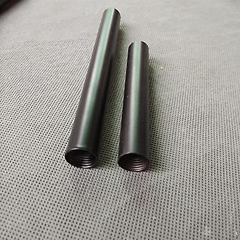 Female Thread+painted Black Metal Hollow Tube With M14 Inner Thread For Floor