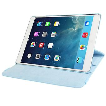 Pour iPad 9.7 (2018) & iPad 9.7 (2017) & Air 2 et amp; Air 360 Degree Rotation Litchi Texture Leather Case with 2 Gears Holder (Bleu)