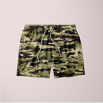 Camouflage patroon plakat shorts