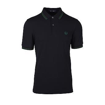 Fred Perry Twin Tipped Polo Shirt Noir/tartan Vert