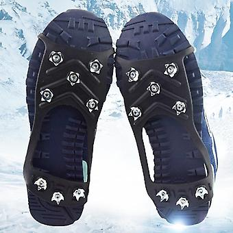 Studs Anti-skid Snow Ice Crampon Climbing  Shoe Spikes Grips Crampons Cleats