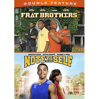 Frat Brothers / Note to Self Double Feature [DVD] USA import