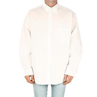 Balenciaga 647357tyb189000 Men's White Cotton Shirt