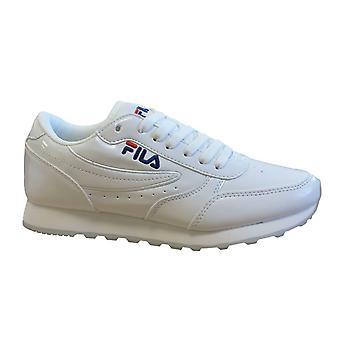 Fila Orbit Low F Womens Trainers براءة اختراع الدانتيل الأبيض حتى الأحذية عارضة 1010454 1FG