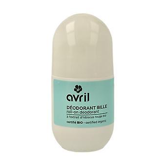 Organic Roll-On Deodorant 50 ml of cream of 515mg