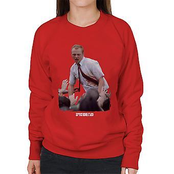 Shaun of the Dead With Zombies Women's Sweatshirt