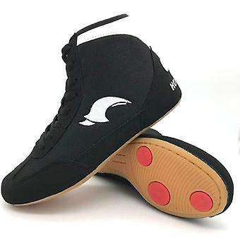 Professional Boxing Wrestling Shoes Rubber Outsole Breathable Combat Sneakers