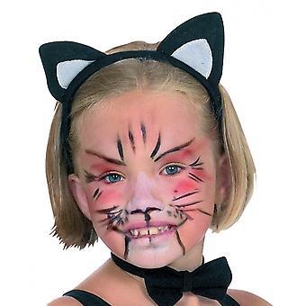 Tiara Kattenoren Junior Zwart / Wit One Size
