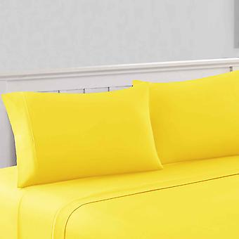 Bezons 4 Piece California King Microfiber Sheet Set With 1800 Thread Count, Yellow