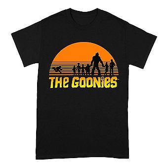Men's The Goonies Sunset Group Black Crew Neck T-Shirt