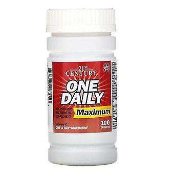 21st Century, One Daily, Maximum, 100 Tablets