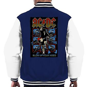 AC/DC Angus Young Blow Up Your Video Men's Varsity Jacket