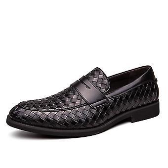أصيلة الجلود عارضة المتسكعون الفاخرة، Moccasins الأعمال أحذية اللباس الرسمي