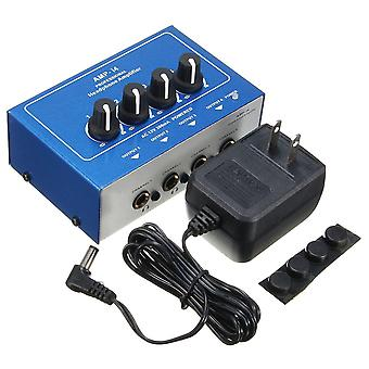 AMP-i4 Miniprofessional Portable 4 Channel Headphone Audio Stereo Amplifier Mixer