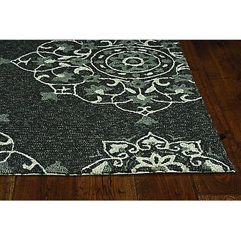 2' x 3' Charcoal Polypropylene Accent Rug