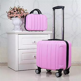 Kid's Rolling Luggage Set, Women Travel Trolley Suitcase With Wheels, Carry On