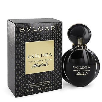 Bvlgari Goldea The Roman Night Absolute Eau De Parfum Spray By Bvlgari 2.5 oz Eau De Parfum Spray