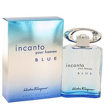 Incanto Blue Eau De Toilette Spray By Salvatore Ferragamo 3.4 oz Eau De Toilette Spray