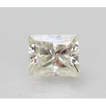 Certified 0.95 Carat H VS1 Princess Enhanced Natural Diamond 5.98x4.95mm 2VG