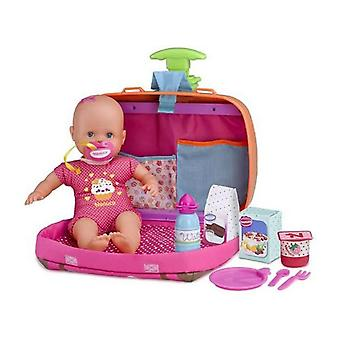 Baby doll with accessories nenuco trolley famosa