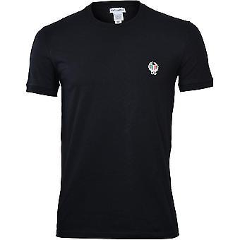 דולצ ' ה & גבאנה ספורט קרסט הצוות חולצת צוואר, שחור