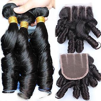 10a Grade Brazilian 1/3/4 Bundles Funmi Curl 100% Unprocessed Virgin