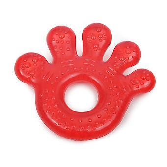 Kasvu kipuja Ring Paw T1205 punainen, BPA-vapaa, jäähdytys kasvu kipuja Ring kuin hammastus tukea 3 kuukautta