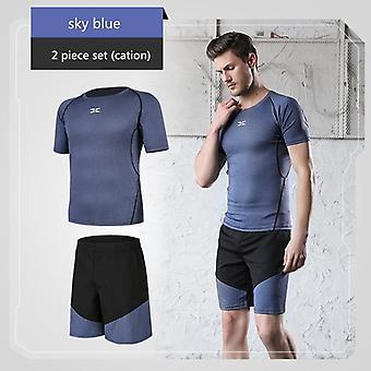 Running Sets Men's Gym Sportswear Suit, Fitness T-shirt, Shorts, Sports