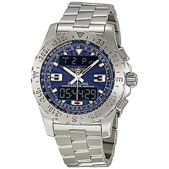 Breitling Airwolf Raven Blue Dial Analog Digital Men's Watch A7836315-C711SS