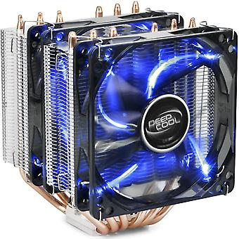 DEEP COOL NEPTWIN V2, CPU Khler, Prozessorlfter fr Intel und AMD CPUs, 6 Heatpipes, Dual-Tower, 2 x