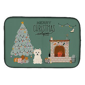 Carolines Treasures CK7605DDM Westie Navidad Todos platos de secado estera